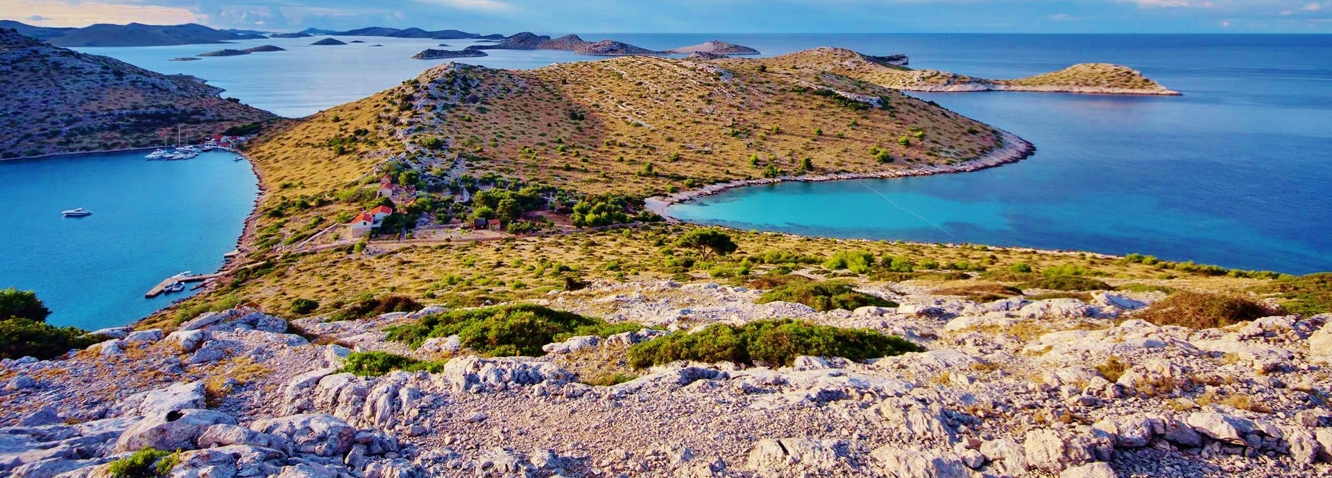 View of the Kornati Islands from the top of the hill