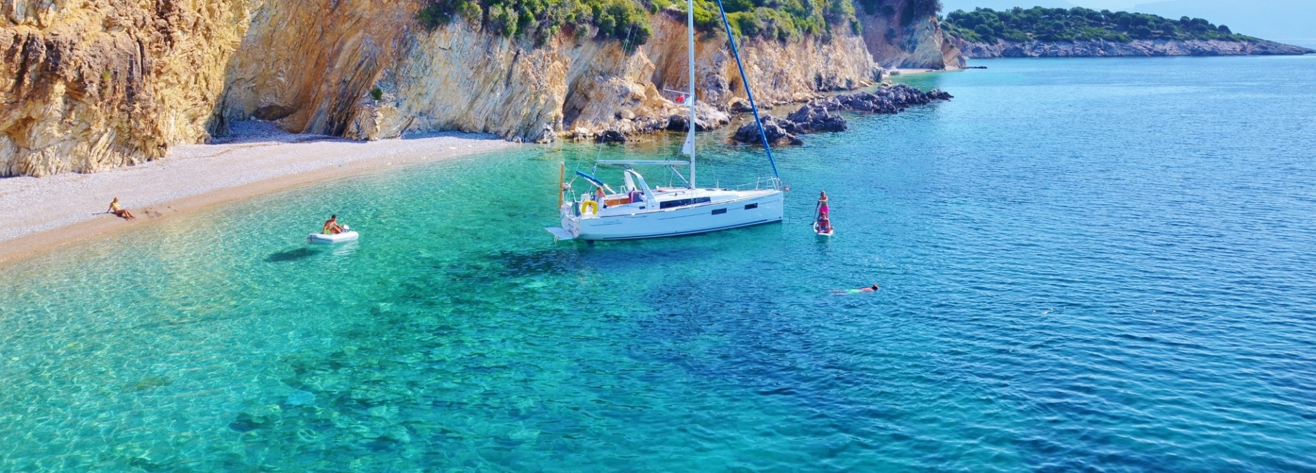 Beneteau Oceanis 38 nchored in the South Ionian Islands