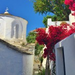 Church in the back streets of Skopelos Town