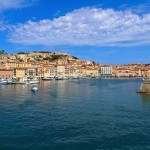 Portoferraio town with yacht