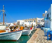 Naousa Paros Fishing Boat and cute quay