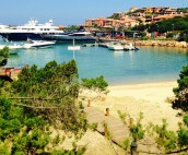Porto Cervo Beach and Superyachts in Sardinia