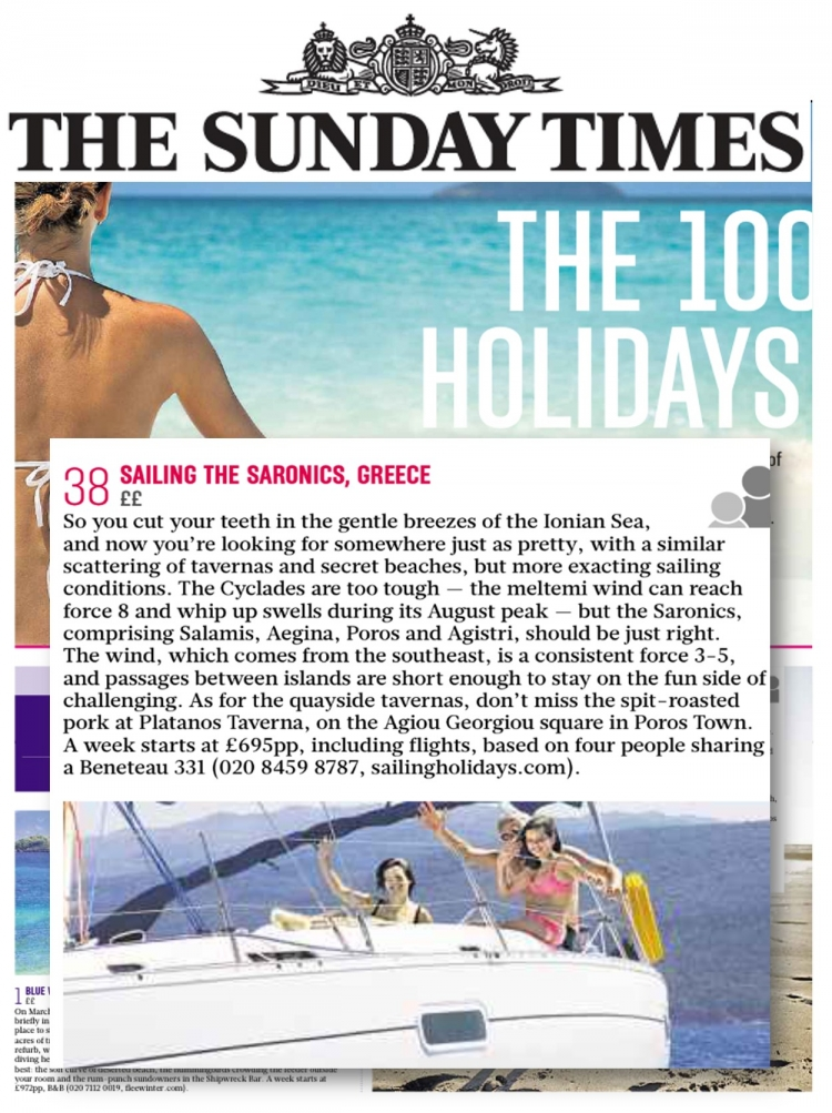THE SUNDAY TIMES Top 100 Holidays 2015
