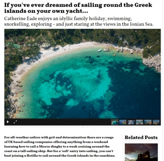 If you've ever dreamed of sailing round the Greek islands on your own yacht...