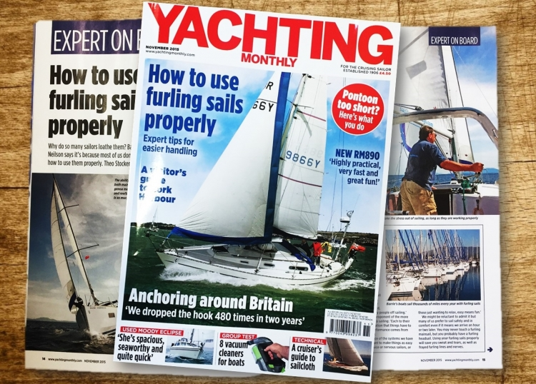 Yachting Monthly November - How to use furling sails properly...