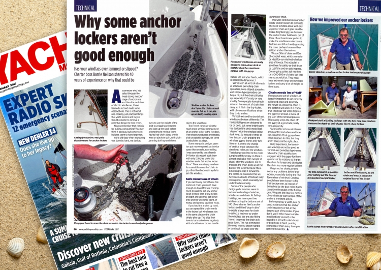 Yachting Monthly - Barrie Talks Anchor Lockers